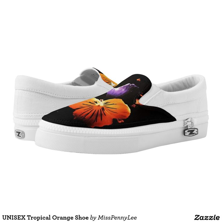 UNISEX Tropical Orange Shoe Printed Shoes