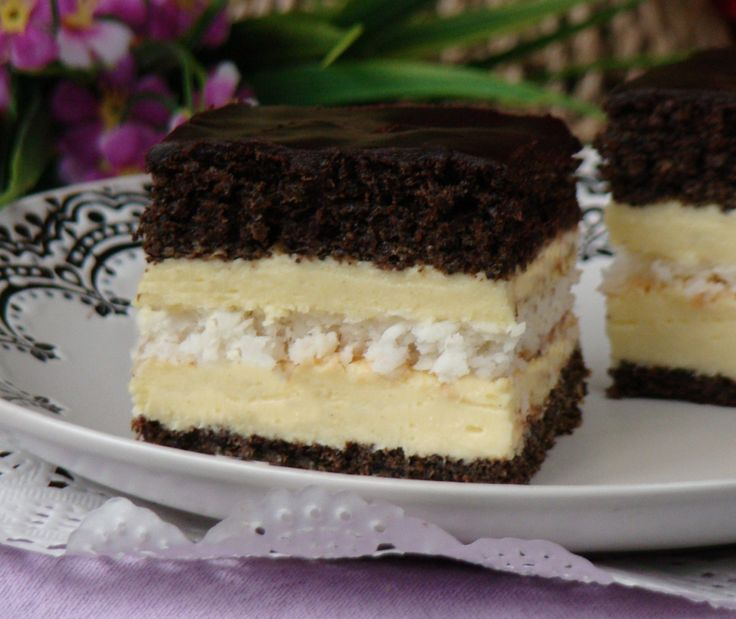 Ciasto z kokosową bezą