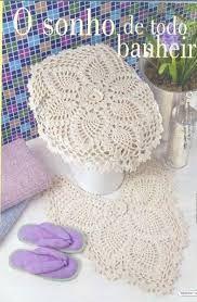 Resultado de imagem para conjunto banheiro croche