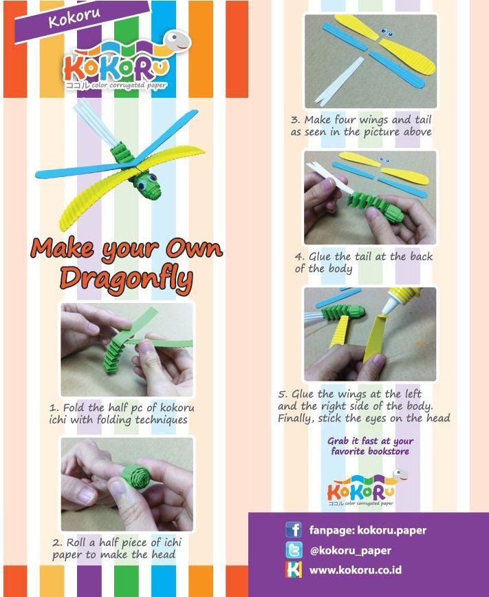Dragonfly - made from Kokoru Ichi - Colour Corrugated Stripes.