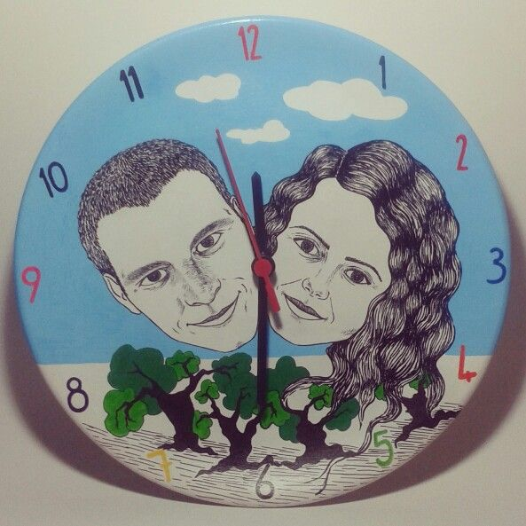 Kişiye özel duvar saati Nüwa Sanat