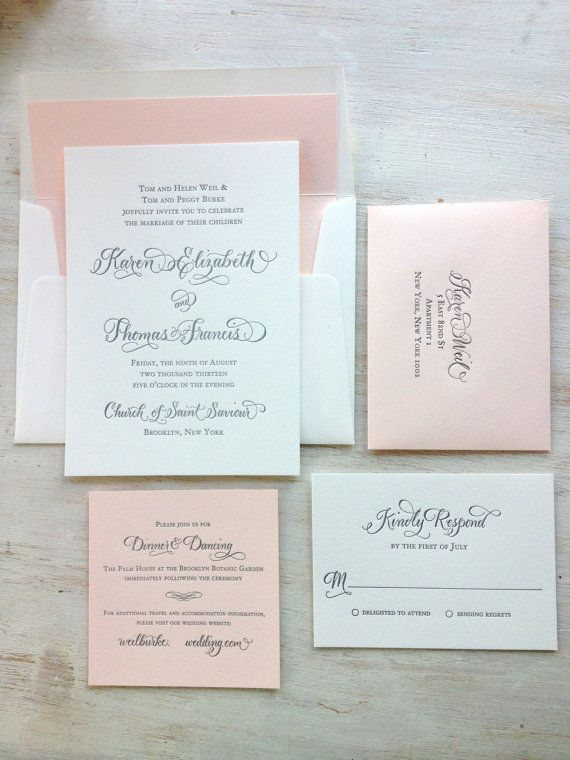Best 25+ Calligraphy invitations ideas on Pinterest Wedding - how to make invitations on word