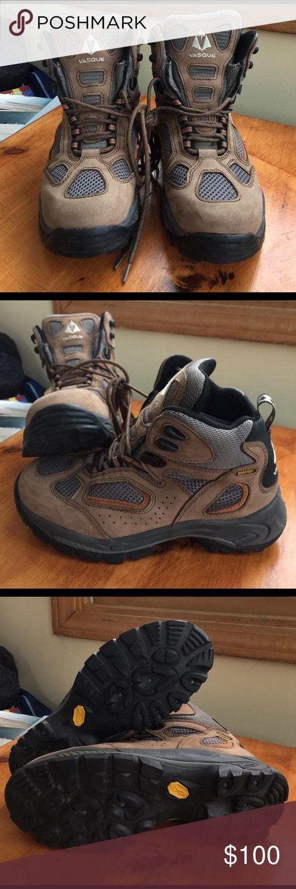 Men's size 9.5 VASQUE boots Brand new boots only worn once! These are too small for my dad. Offers are welcome! Vasque Shoes Boots
