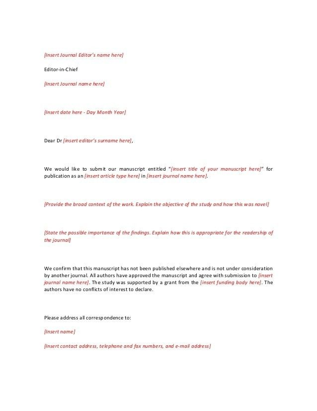 Cover Letter Example Elsevier Attending Can Be A Disaster If Template For Resume Journal Dissertation Submission Form