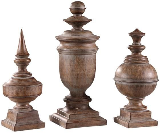Antique Finials - Set of 3 - Home Accents - Home Decor - Sculptures | HomeDecorators.com