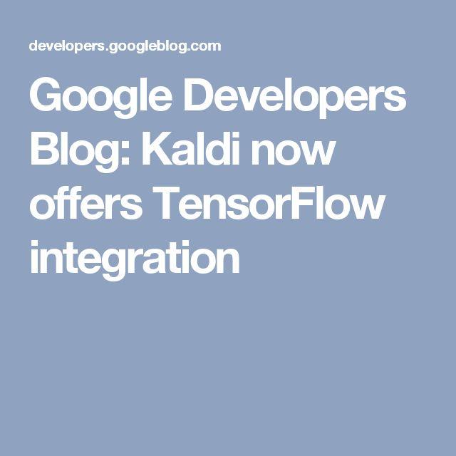 Kaldi now offers TensorFlow integration (speech recognition)