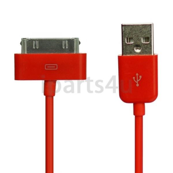 Dock Connector-auf-USB-Kabel iPad, iPod und iPhone Rot iPad Zubehör, iPhone Zubehör und iPod Zubehör || Gut und Billig
