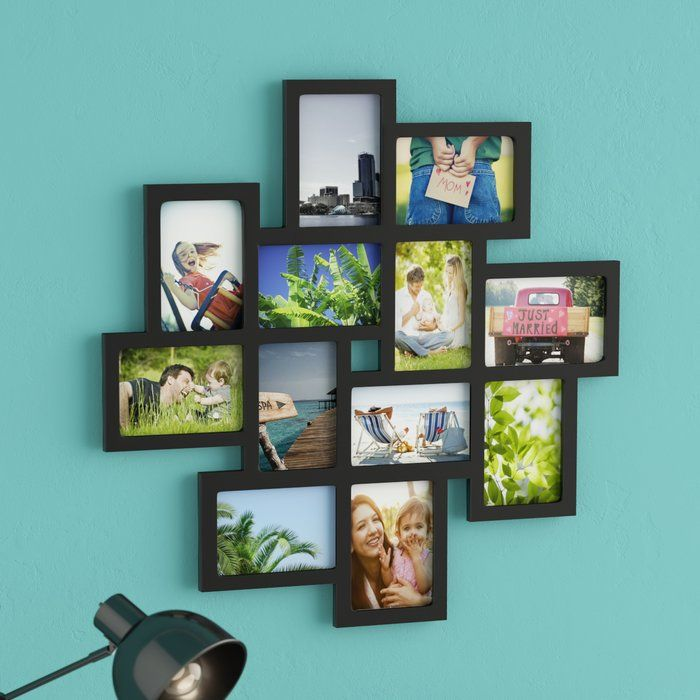 12 Opening Decorative Wood Photo Collage Wall Hanging Picture Frame Photo Wall Collage Collage Picture Frames Wall Collage