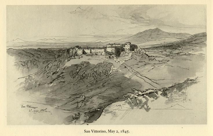 Edward Lear, San Vittorino, May 2, 1845