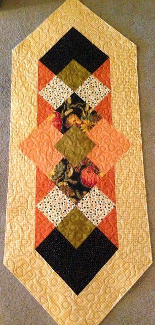 Fall Table Runner, www.deniseclason.com @Denise H. H. Clason