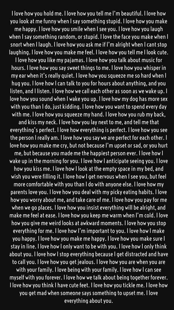 all of these are so true. except the dog because we dont have one yet! I love you Derek Michael, you're my honeybee   your honeysuckle
