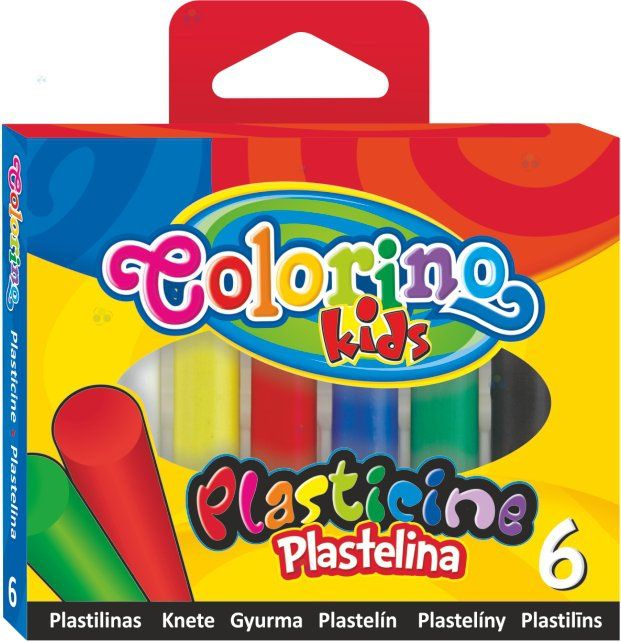 PLASTELINA 6 KOLORÓW COLORINO KIDS - Plastelina, modelina, glina - Artykuły szkolne