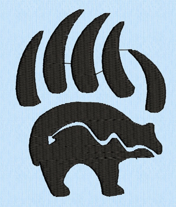 bear and claws tribal tattoo machine embroidery design by