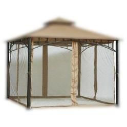 Pier Surplus 7 ft (84 in) Tall Beige Mosquito Net ONLY for 10x10 Gazebo w/ Velcro Straps