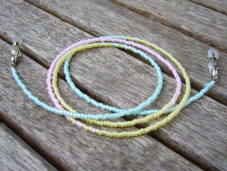 Brillenkette pastell von Unbehauen - Schmuckdesign auf DaWanda.com