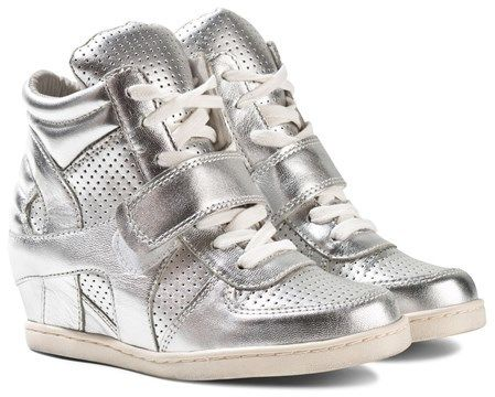 Ash Shoes Babe Silver Platine Lace Up Wedge Boots