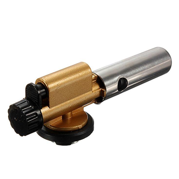 Encendido electrónico Antorcha Encendedor de Butano de La Llama Del Quemador De Gas Fabricante De la Pistola de Cobre Para Cocinar Picnic Acampar Al Aire Libre Equipo De Soldadura