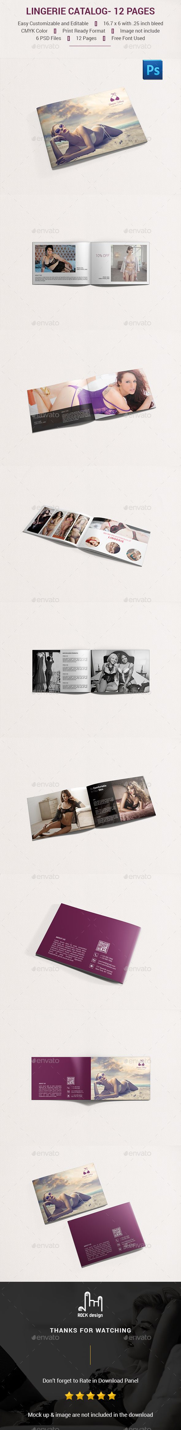 Lingerie #Catalog- 12 Pages - Catalogs Brochures.Download here: http://graphicriver.net/item/lingerie-catalog-12-pages/16427864?ref=arroganttype