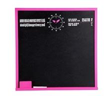 Design Letters kridt tavle - pink