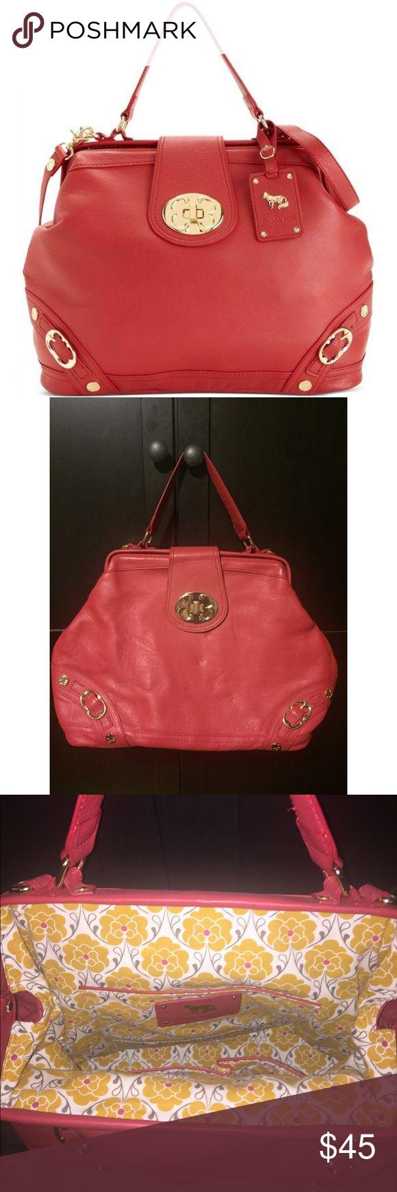 Emma Fox Red Leather Handbag NWOT Emma Fox red leather handbag! Feel free to make me an offer :) Emma Fox Bags Shoulder Bags