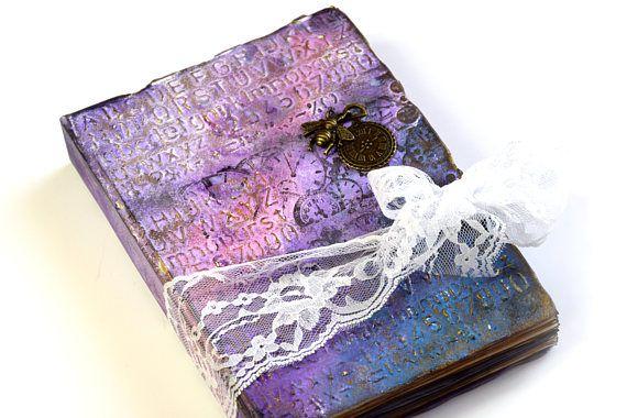 handmade shabby chic diary scrapbook photo album