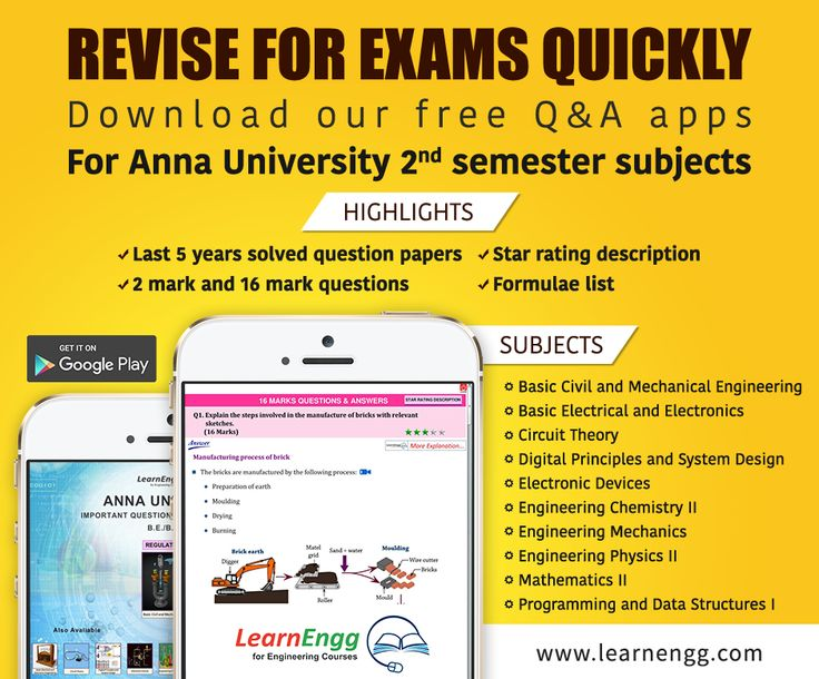 LearnEngg launches Q&A mobile apps for Anna University 2nd Semester subjects [Click on the image] #learnengg #annauniversity #apps