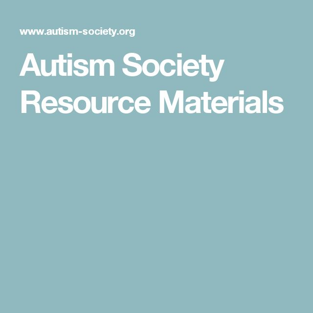 Autism Society Resource Materials