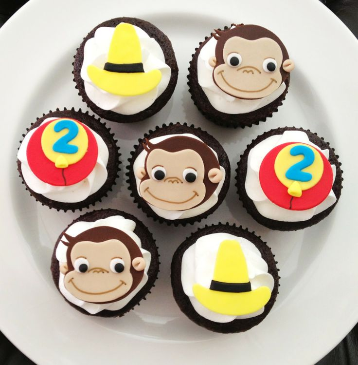 Curious George Cupcake Toppers | Curious George Cupcakes and Cupcake Toppers  @SueLynn Junkert