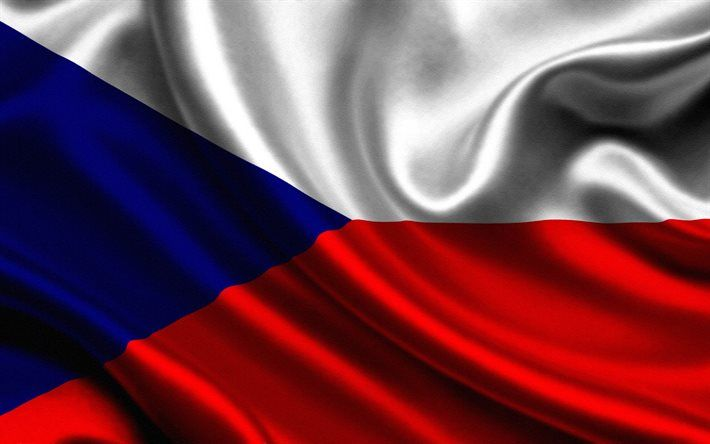 flag of Czech Republic, Czech flag, silk flag, European flags