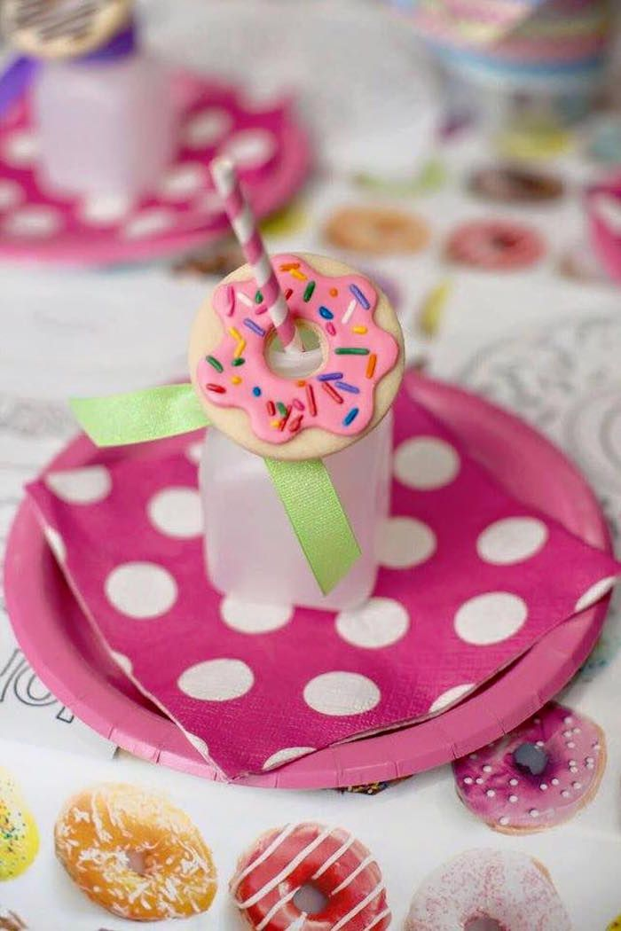 Place Setting from a Donut Themed Birthday Party.