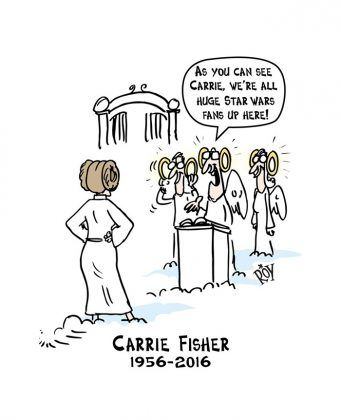 """On Tuesday Morning, Carrie Fisher went to a galaxy far far away, far far too soon. The 60-year-old actress died after suffering a heart attack during her flight to Los Angeles following a trip to London last week. Though Fisher was best known for her role as Princess Leia in """"Star Wars,"""" the actress was …"""