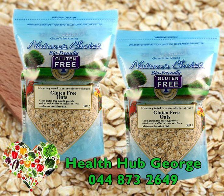 We Stock a variety of products such as this #NaturesChoice gluten free oats, and start #Living healthier today. Visit #HealthHub in Market Street, George.