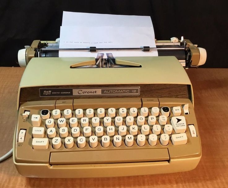 VINTAGE SMITH-CORONA CORONET AUTOMATIC 12 ELECTRIC TYPEWRITER W/ CASE - WORKING #SmithCorona