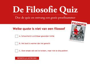 Digined lanceert Filosofie Quiz voor Filosofie Magazine. #Facebook News   Digined