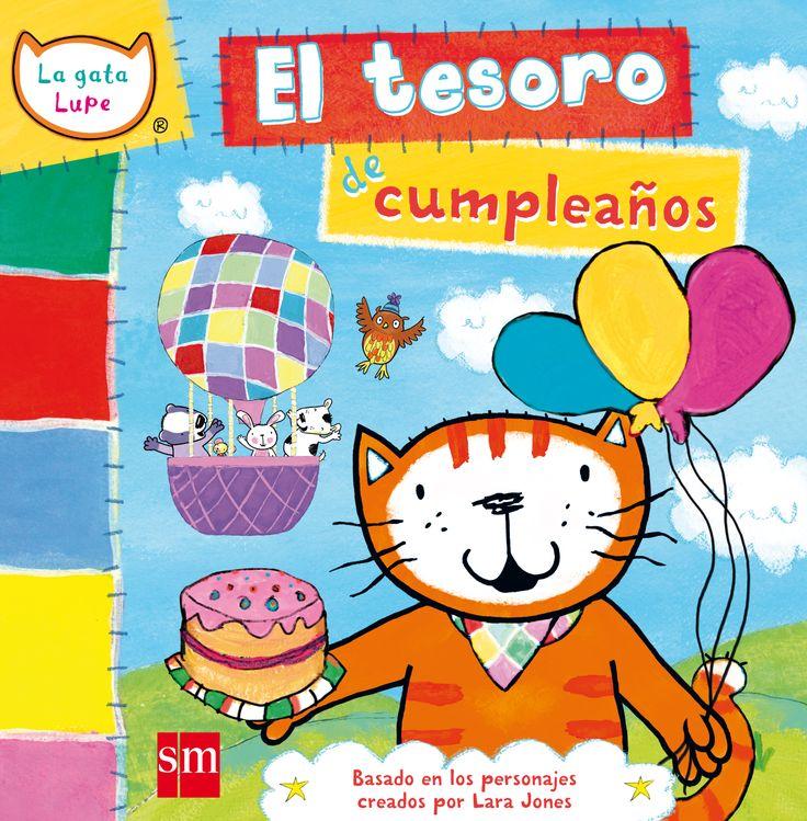 """Un divertido cuento basado en uno de los episodios de la serie de dibujos animados""""La gata Lupe"""".Es el cumpleaños de la gata Lupe y cada uno de sus amigos le regala algo. Además, se irán de viaje a la selva, donde a Lupe le espera una fiesta sorpresa.  http://pequelia.es/32420/la-gata-lupe-de-lara-jones/   http://rabel.jcyl.es/cgi-bin/abnetopac?SUBC=BPSOACC=DOSEARCHxsqf99=1755314"""