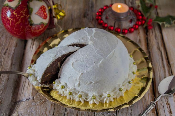 Zuccotto al cioccolato di pandoro ricetta riciclo