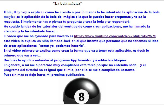 Creación de la aplicación de la bola mágica con el programa appinventor