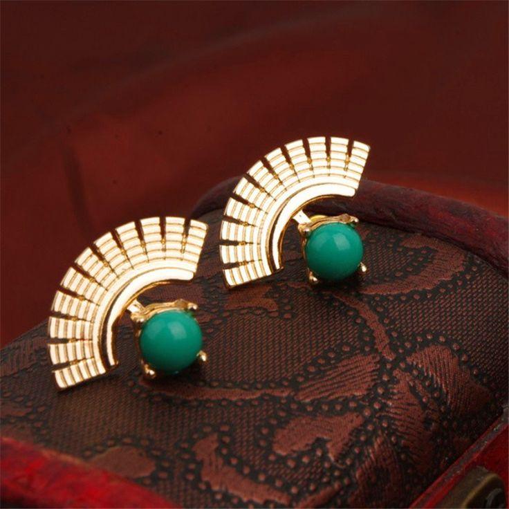Ethnic Exotic Indian Jewelry Earrings Sapphire Fashion Star Style Earrings Famous Brand Women Jewelry 1