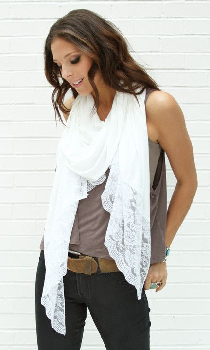 ashanddans - White Lace Trim Wrap. Make one. This one is $98.