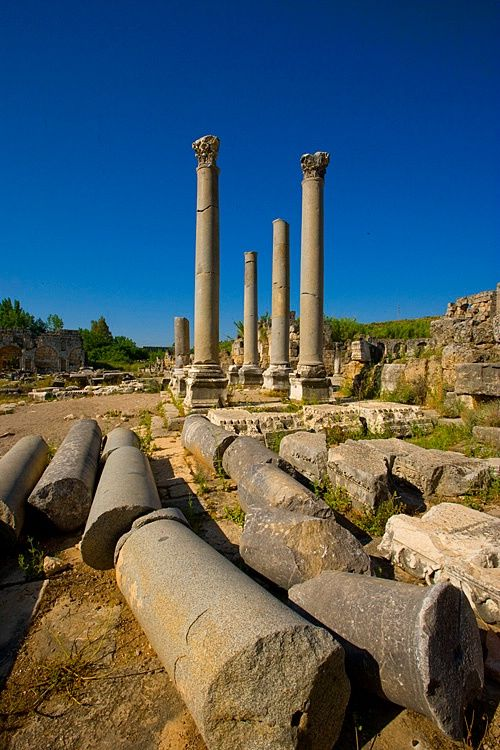 Ancient Roman ruins at Perge near Antalya, Turkey