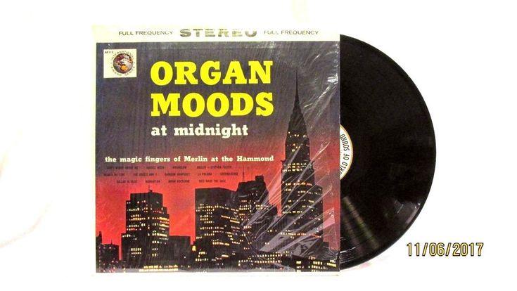 1962 Magic Fingers of Merlin at the Hammond Organ Moods at Midnight Vinyl LP 33 #EasyListening
