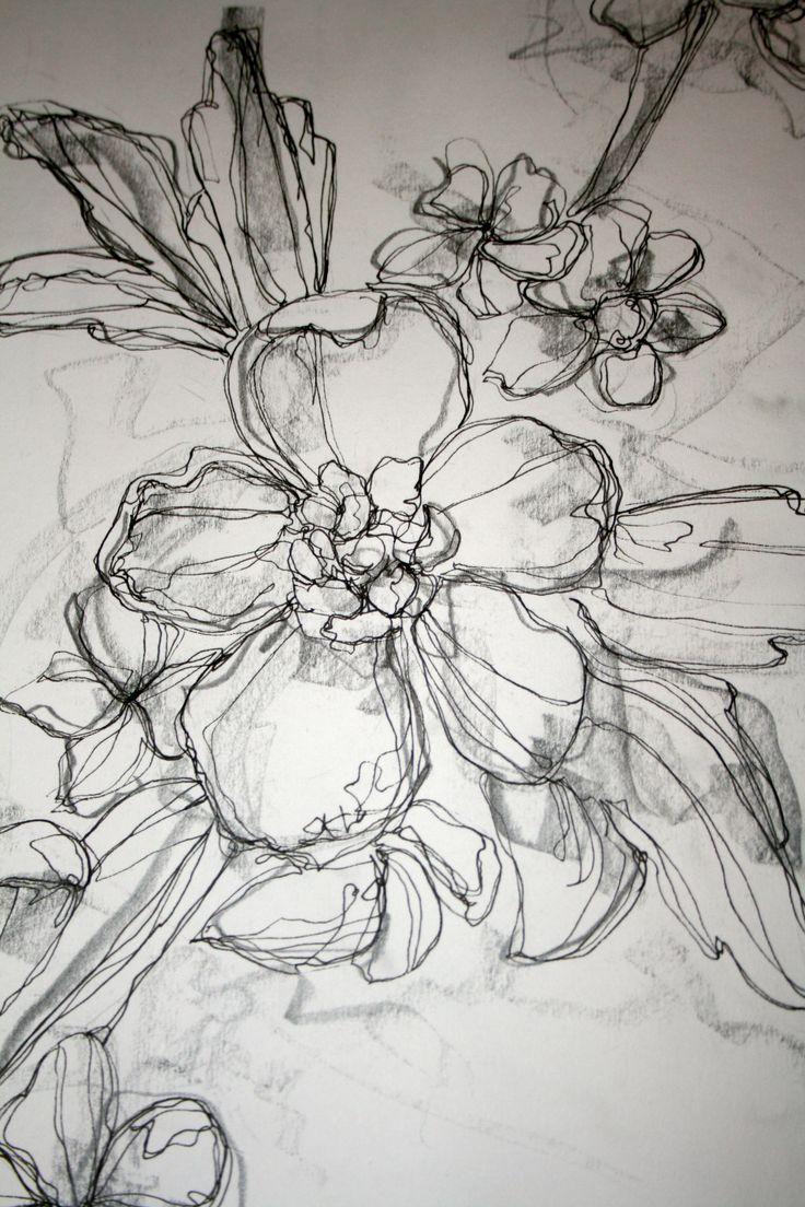 Floral illustration with pen/pencil for logo