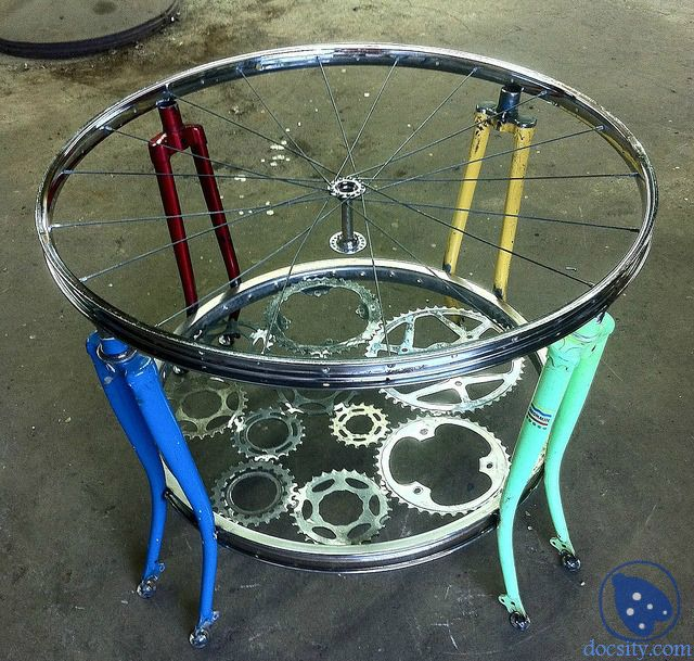 341 best old tires and wheels repurposed images on for Bicycle wheel table