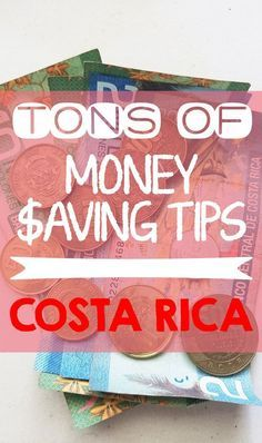 Visiting Costa Rica on a budget? Check out the best list of money saving tips for lodging, food, tours and more. Tips from a local http://mytanfeet.com/costa-rica-travel-tips/save-money-traveling-in-costa-rica/
