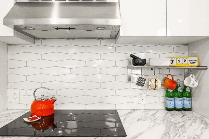 Image Result For Elongated Hex Tile Hexagon Tile Backsplash Backsplash Tile Design Kitchen Backsplash