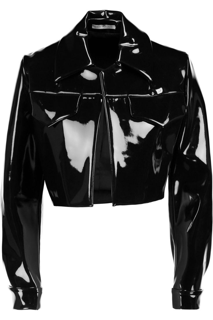 Emilia WicksteadDorris cropped PVC jacketfront