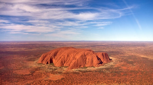 It's one of Australia's most iconic images -- Ayers Rock. This spectacular sandstone rock formation, more than 1,000 feet high, is yours to see at the Uluru-Kata Tjuta National Park, located in Australia's Northern Territory.