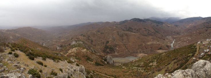 Portitsa's Canyon,view from Spilaio village,Grevena,Greece