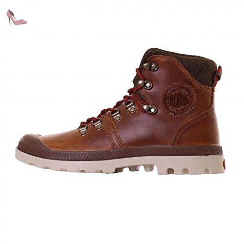 Chaussures à lacets PALLADIUM cuir marron 38 gjO2GwkI7