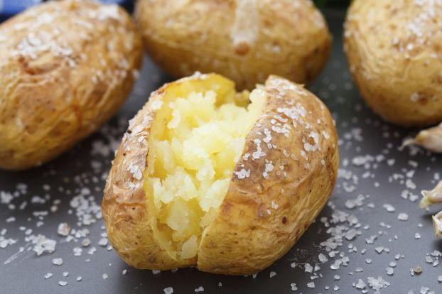 Recette - Pommes de terre au four à la fleur de sel et crème de ciboulette | 750g